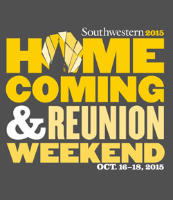 HOMECOMING and REUNION WEEKEND, October 16-18, 2015!